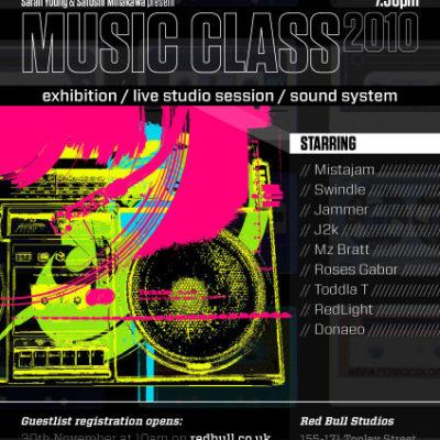 Red Bull Music Class 2010 flyer